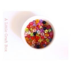 40 perles bicones en acrylique 6mm - panaché