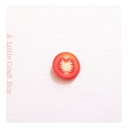 "30 tranches de ""tomate"" en pâte polymère"