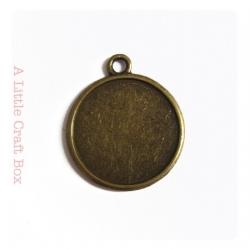 1 estampe ronde 25mm - bronze
