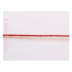 1m de coton ciré 1mm - rouge