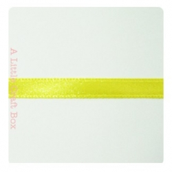 1m Ruban en satin 6mm - jaune