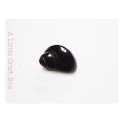 """1 perle """" coquillage"""" - noir"""