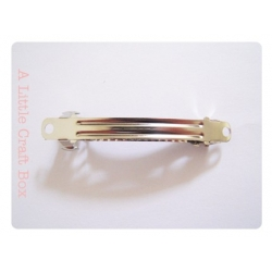 1 barrette à clip 59x6mm - argent vieilli