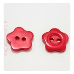 "5 boutons ""fleurs"" 9mm"