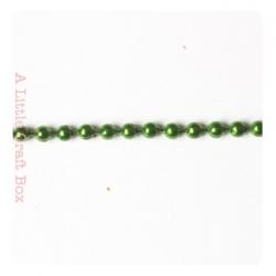 1m de chaine à bille 2mm - vert métallique