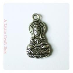 """1 breloque """"déesse asiatique"""" - argent vieilli"""