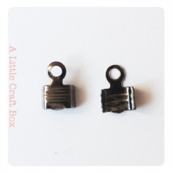"20 pinces ""lacet"" 7x4mm - gunmetal"