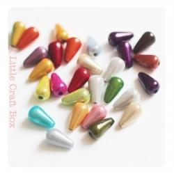 "10 perles miracle ""goutte"" 10x6mm - panaché"