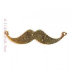 """1 pendentif """"moustache"""" - bronze"""