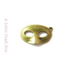 """1 breloque """"masque"""" -  bronze"""