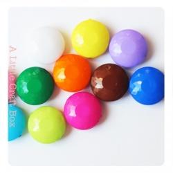 10 perles rondes à facette 14x6.5mm - panaché