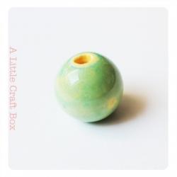 1 perle en céramique 12mm - vert