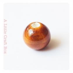 1 perle en céramique 12mm - marron