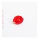2 perles à facette ovale 8mm en cristal - rouge