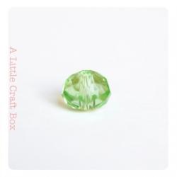 2 perles à facette ovale 8mm en cristal - vert