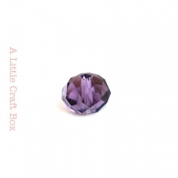 2 perles à facette ovale 8mm en cristal - violet