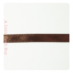1m Ruban en satin 6mm - marron