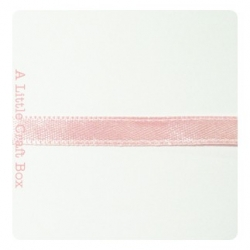 1m Ruban en satin 6mm - rose pastel