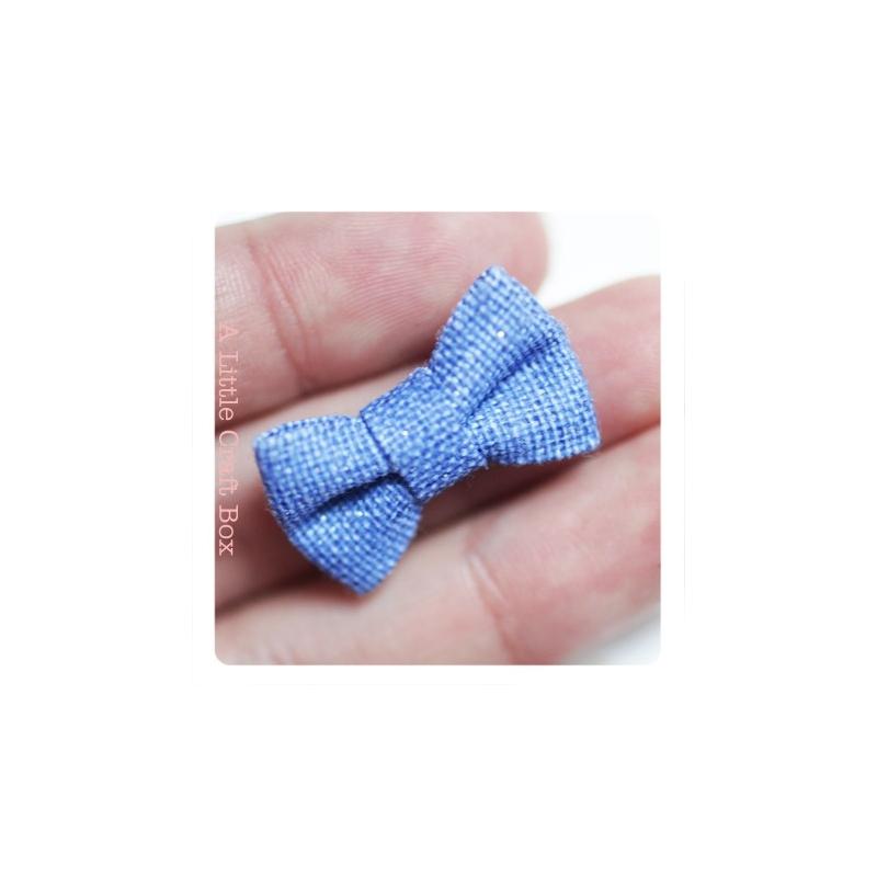 1 noeud en tweed bleu a little craft box. Black Bedroom Furniture Sets. Home Design Ideas