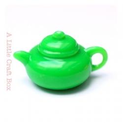 1 breloque théière  - vert