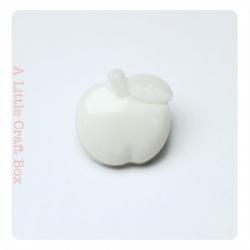"1 bouton ""pomme"" - blanc"