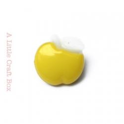 "1 bouton ""pomme"" - jaune"