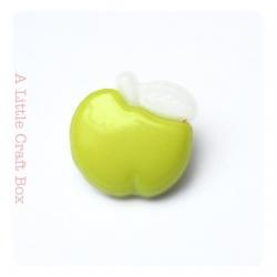 """1 bouton """"pomme"""" - vert"""