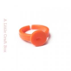 1 bague enfant acrylique - orange
