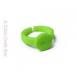 1 bague enfant acrylique - vert