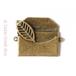 "1 pendentif ""lettre"" - bronze"
