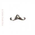 """10 mini breloques """"moustache"""" - argent vieilli"""