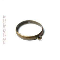 1 bague à anneau ajustable - bronze