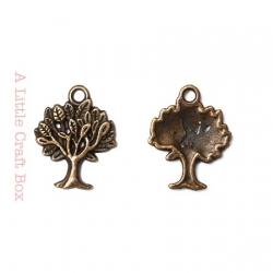 """3 breloques """" arbre"""" - bronze"""