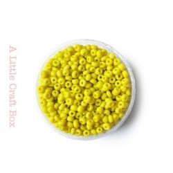 20g de perles de rocaille 3mm - jaune opaque