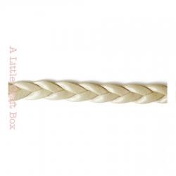 1m de cordon en simili cuir tressé 5mm - beige