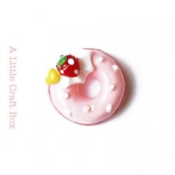 "1 cabochon ""donut"" - rose"