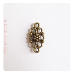 """4 connecteurs """"petite dentelle"""" - bronze"""