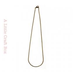 1 collier de 45cm de chaine avec fermoir  - bronze