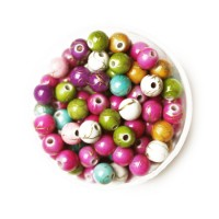 "30 perles marbrées ""or""  4mm - panaché"