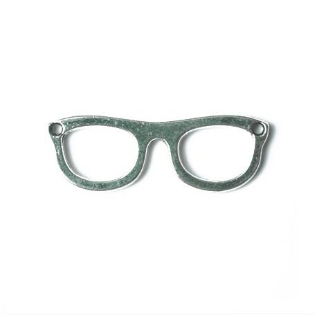 """2 pendentifs / breloques """" lunettes """" - argent"""
