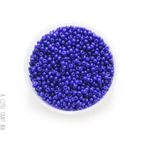20g de perles de rocaille 2mm - bleu foncé opaque
