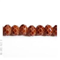 2 perles à facette ovale 8mm en cristal - peau de serpent