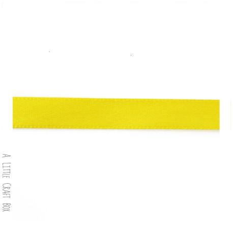 1m Ruban en satin 10mm - jaune