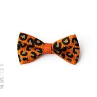 1 noeud en tissu léopard - orange