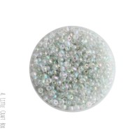 20g de perles de rocaille 3mm - transparent irisé