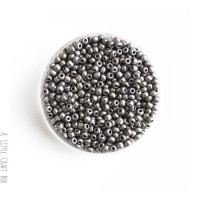 20g de perles de rocaille 3mm - bleu opaque