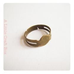 1  bague basic  réglable - bronze