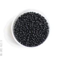 20g de perles de rocaille 2mm - noir  opaque