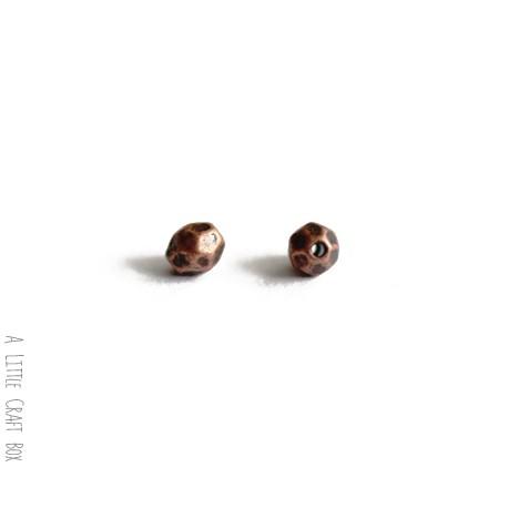 30 perles séparatrices à facette  -  cuivre