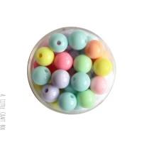 20 perles rondes pastels 10mm - panaché